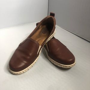 Born Brown Leather Slip on Sneakers